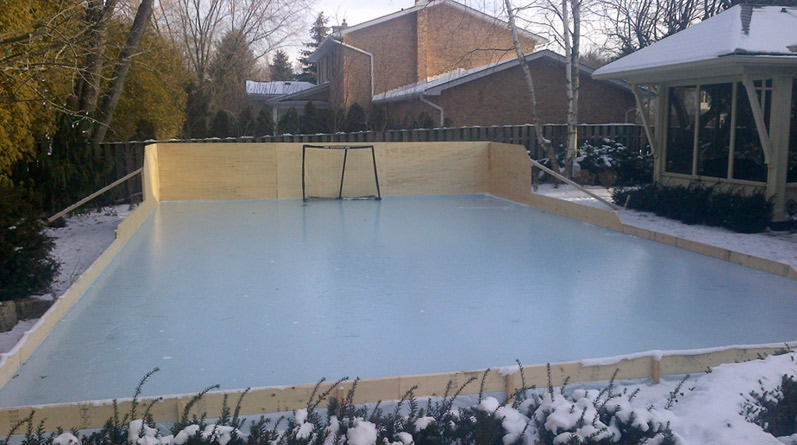Rink Liners and Backyard Skating Rink Tarps | How To Install